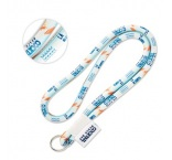 ML1047 - Full colour cord lanyard with woven label. Min 100 pcs